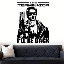 Terminator I Ll Be Back Graphic Decor Quote Wall Art Sticker Decal Various Colou Art Decor Wall Decals Living Wall Sticker U545 Wall Stickers Aliexpress