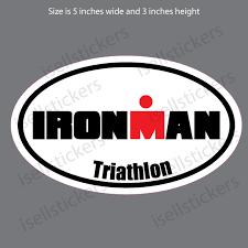 Ironman Race Run Running Bumper Sticker Car Truck Window Decal