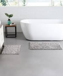 vcny home silver gala bath rug set of