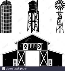 Silhouette Of A Barn Building Stock Vector Image Art Alamy