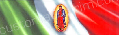 Our Lady Of Guadalupe With Mexican Flag Rear Window Graphic Rwg864 Customautotrim