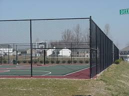 Tennis Court Fence Chain Link Black Green 10ft Height Complete Package