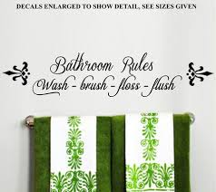 Bathroom Rules Inspiration Quote Set Of Two Wall Art Stickers Vinyl De Vinyl Lady Decals