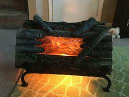 electric fireplace logs natural wood
