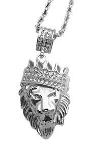 gold silver hip hop pendant necklaces