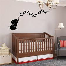 Cute Elephant Wall Sticker Baby Nursery Decorative Wall Decals Kids Living Room For Sale Online
