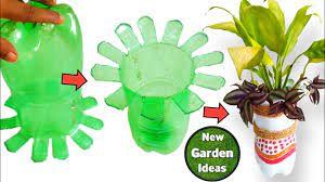 plastic bottle flower pot plastic