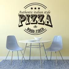 Pizzeria Logo Window Poster Authentic Italian Style Wall Art Sticker Restaurant Pizza Vinyl Wall Decal Removable Poster Az230 Wall Stickers Aliexpress