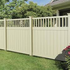 Freedom Ready To Assemble Bexley 6 Ft H X 6 Ft W Sand Vinyl Fence Panel Lowes Com Vinyl Fence Panels Vinyl Fence Fence Panels