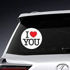 I Love You Typewriter Sticker