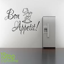Bon Appetit Wall Sticker Quote Home Kitchen Wall Art Decal X57 Ebay