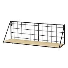 wire iron corner floating wall shelves