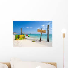 Caribbean Hammock On The Beach Wall Decal Wallmonkeys Com
