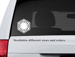 Star Wars First Order Logo Vinyl Decal Sticker Etsy