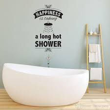 Bathroom Decal Bathroom Wall Quote Happiness Is Taking Bathroom Words Lettering Wall Decal Art Vinyl Sticker Wall Stickers Cheap Wall Stickers Children From Onlinegame 11 58 Dhgate Com
