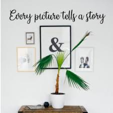 Every Picture Tells A Story Wall Phrase Gallery Wall Decor Farmhouse Wall Sign Wall Hanging Home Living Craft Diy Photo Wall In 2020 Diy Photo Wall Wall Phrases Gallery Wall Decor