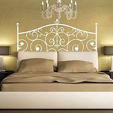 Amazon Com Headboard Decal Vinyl Wall Decal Headboard Wall Sticker For King Queen Full Twin Bedroom Dorm Decor 30 5 X55 White Kitchen Dining