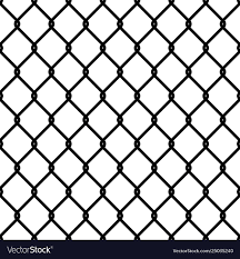 Fence Link Pattern Seamless Chain Texture Black Vector Image