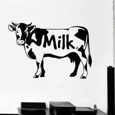 Cute Cow Decals Milk Vinyl Wall Art Stickers Mural Removable Home Decoration Ebay
