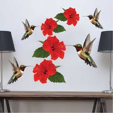 Hummingbirds Decal Mural Adhesives Wall Stickers Primedecals
