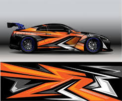 Sport Modern Orange Abstract Decal Vinyl Car Background In 2020 Car Wrap Car Sticker Design Abstract Decal
