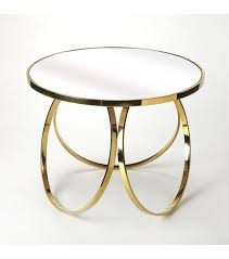 gold hoops mirrored glass top round