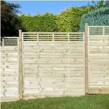 Horizontal Slatted Top Fence Panel Ukdeckit