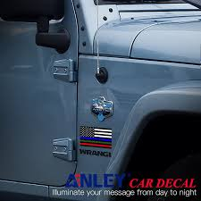 Blue Green And Red Us Flag Decal Anley Flags