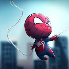 chibi spiderman wallpapers top free