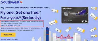 southwest airlines companion p