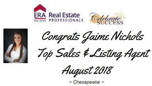 Congrats Jaime Nichols ! TOP Sales &... - ERA Real Estate Professionals |  Facebook