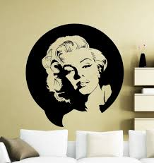 Vintage Wall Sticker Marilyn Monroe Wall Decal Vinyl Music Singer Sticker Decor Home Mural Decorative House Adesivo Ny 312 Marilyn Monroe Wall Decals Wall Stickerwall Stickers Marilyn Monroe Aliexpress