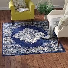 susan navy blue area rug at wayfair