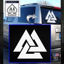 Norse Viking Warriors Valknut Decal Sticker A1 Decals
