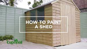 How To Paint Your Garden Shed Cuprinol Uk Youtube