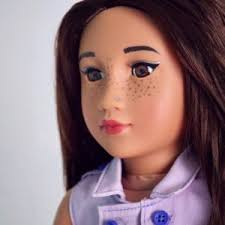 how to put makeup on your american doll