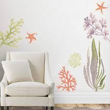 1086 00085 P Coral Reef 628 628 Decal Wall Art Martha Stewart Wall Art Custom Wall Decor