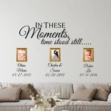 In These Moments Time Stood Still Wall Decal Vinyl Wall Art Etsy