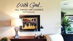 Matthew 19 26 Bible Verse Vinyl Wall Stickers Decals Scripture Word Art Decor Ebay