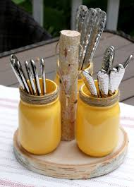 diy rustic mason jar utensil holder