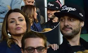 Dannii Minogue beside boyfriend Adrian Newman at the Australian Open |  Daily Mail Online