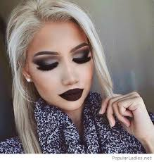 new year makeup inspiration with dark lips