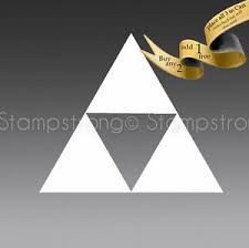 2 Inch Legend Of Zelda Triforce Vinyl Decal Sticker Die Cut Tri Force Ebay