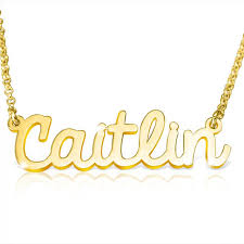 chain gold plated nameplate necklace