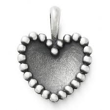 james avery beaded heart pendant approz