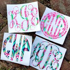 Vinyl Monogram Decal Sticker For Yeti Tumbler