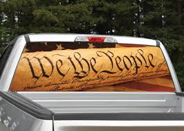 We The People Constitution American Flag Rear Window Graphic Miller Graphics