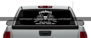 In Loving Memory Of Angel Wings Heart Angel Memorial Vinyl Window Decals In Loving Memory Of Car Truck Stickers