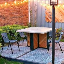 concrete outdoor table base with