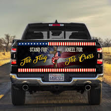 Stand For The Flag Kneel For The Cross Truck Tailgate Decal Sticker Wrap Qnk560td Flagwix